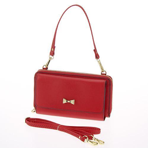◎LY愛雅日貨代購◎ 多夾層蝴蝶結硬殼包 側背+手提 紅色