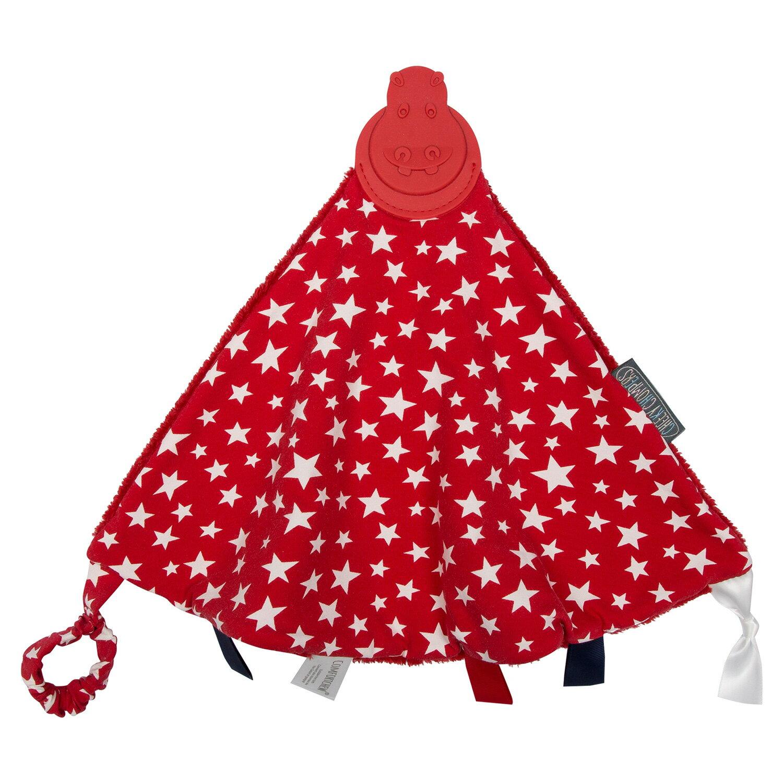 【英國 Cheeky Chompers】 全世界第一個咬咬巾-閃耀紅星(英國設計師Joules聯名款)