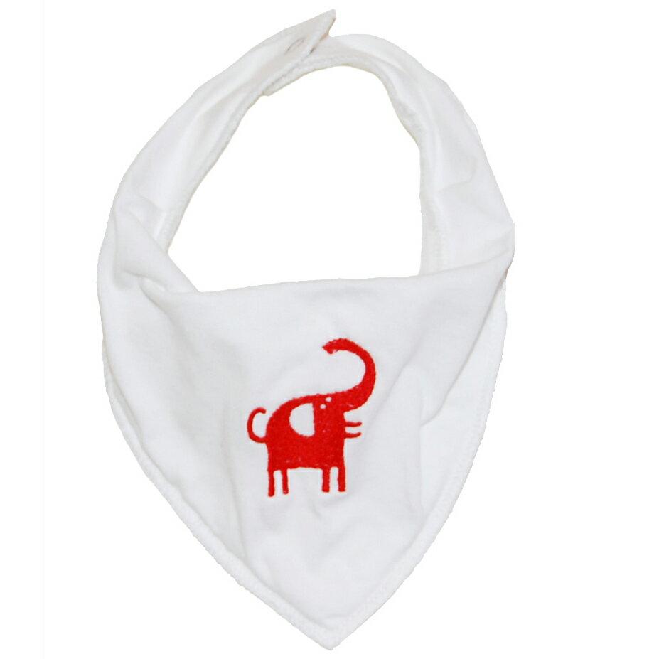 【一包2入】瑞典Klippan好舒服口水巾圍兜兜 -小紅象