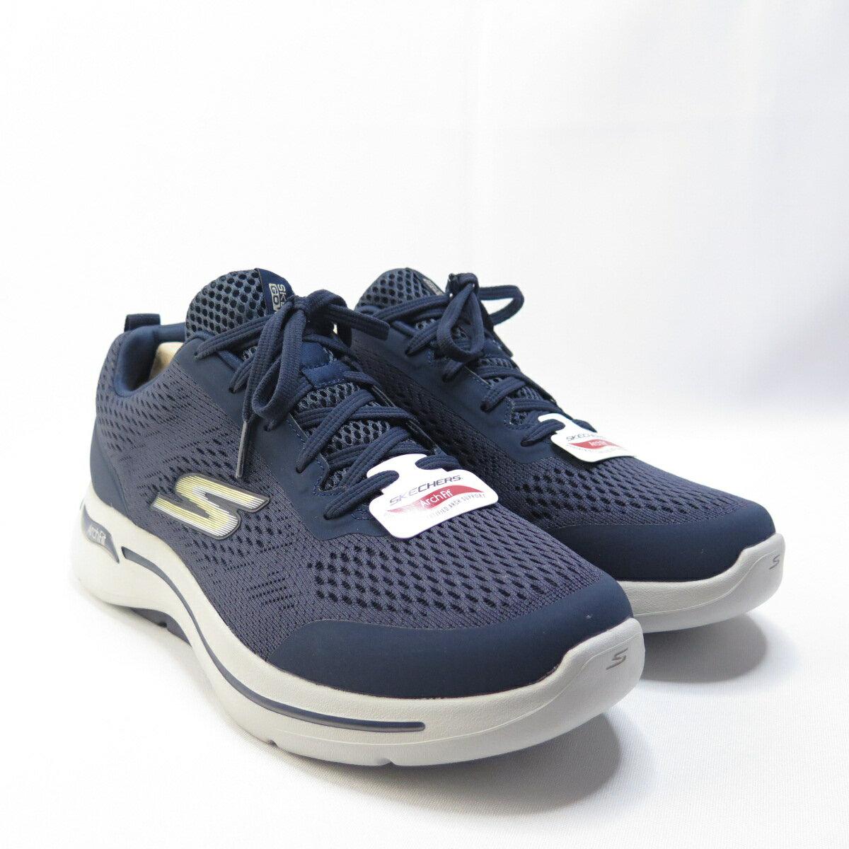 Skechers GO WALK ARCH FIT 健走鞋 216116NVGD 男款 藍【iSport愛運動】