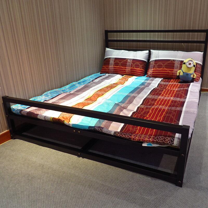 雙人床架/床台/床底/床架組/DIY組裝 單層床架 5尺38mm鐵管 雙人床  空間特工【 T1E318】