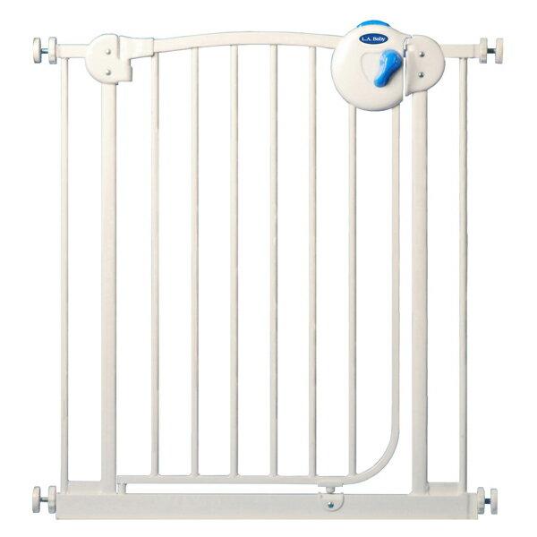 【美國 L.A. Baby】SG21 嬰兒/兒童安全門欄雙向自動上鎖安全鐵門欄(三道安全鎖裝置)