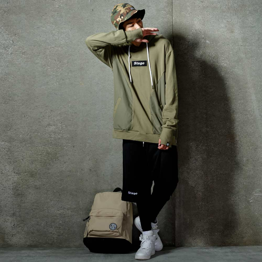 STAGE ARMOUR LS HOODIE 黑色 / 軍綠色 兩色 0