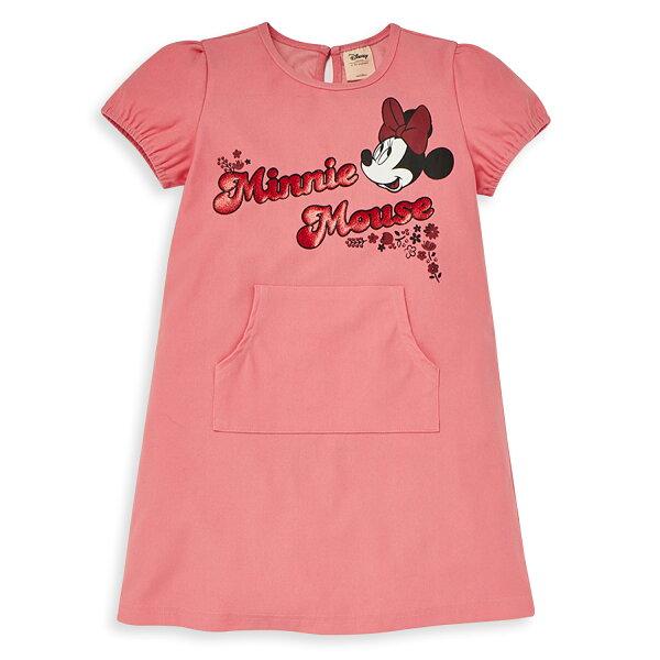 Disney米妮系列夏日花園口袋洋裝-粉紅