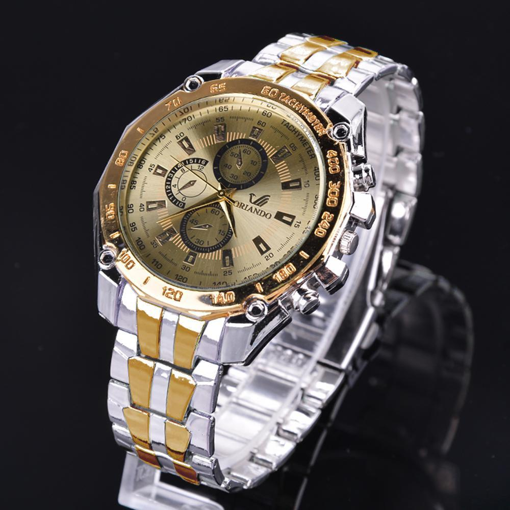 Stainless Steel  Quartz Clock Men's Wrist Watch 0