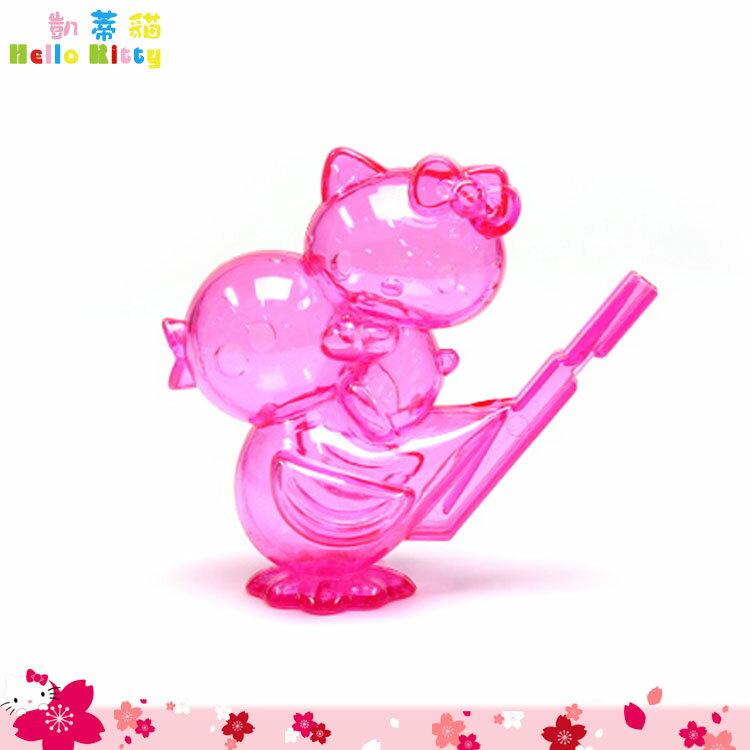 大田倉 日本進口正版 凱蒂貓 Hello Kitty 小鳥造型哨子 玩具 粉 兒童小口哨 警戒哨 求生哨子 012507