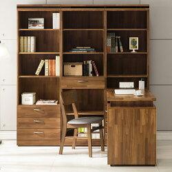 【日本直人木業】BRAC層木二個3抽一個1抽書櫃加調整書桌