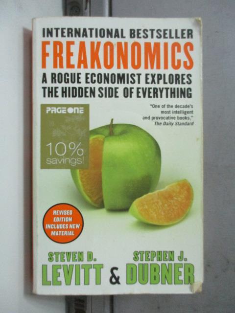 【書寶二手書T1/原文書_NSW】Freakonomics_Steven D