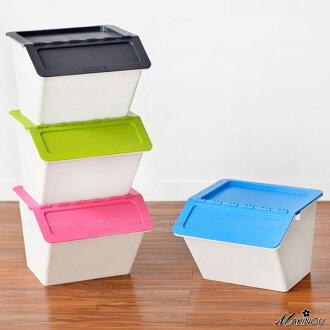 整理箱 日本MAKINOU-斜口可疊收納箱-022 收納箱台灣製塑膠