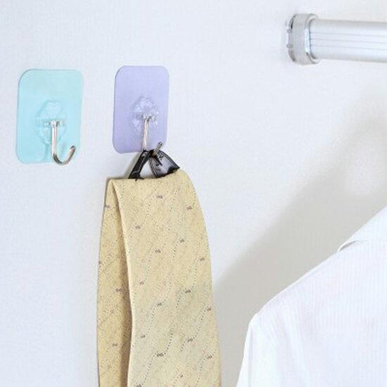●MY COLOR●純色無痕免釘掛勾 衛生間 牆面 浴室強力 無痕 承重 吸盤 黏膠 無痕黏勾【P376】