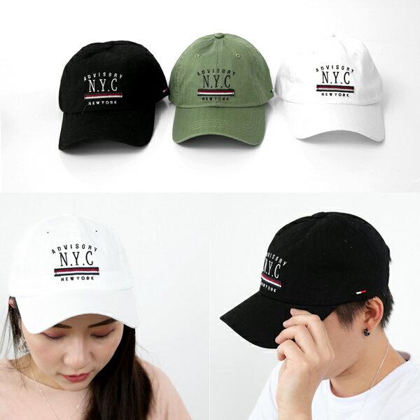 老帽紅白藍帆布標棒球帽【NHA2】柒彩年代