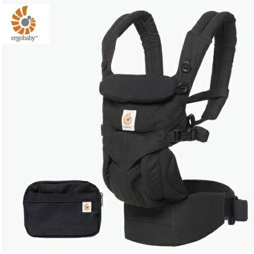 【送日本製拍嗝巾x1】美國【ErgoBaby】Omni全階段型四式360嬰兒揹帶(黑色)