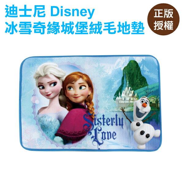 冰雪奇緣絨毛地墊-城堡 腳踏墊 門墊 迪士尼 Disney〔蕾寶〕