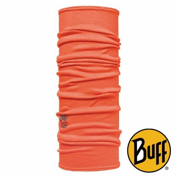 Buff 西班牙 | 美麗諾羊毛頭巾 橘紅 素色 保暖 圍巾 頸圍 脖圍 | 秀山莊(BF107866)
