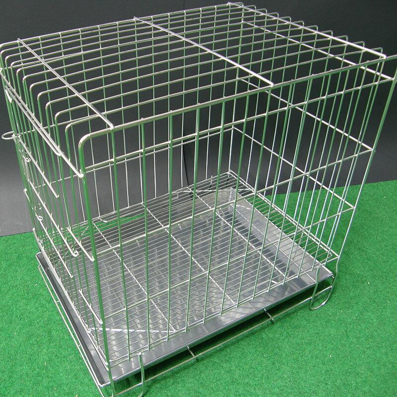 寵物屋 狗籠貓 寵物籠 圍欄 尿盤 底網 隔板 3尺折疊式兔籠 不鏽鋼摺疊3尺白鐵線籠 空間特工