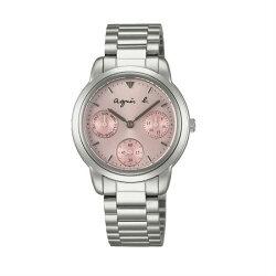 agnes b VD75-KP90N(BP6007X1)經典時尚腕錶/粉紅面32mm