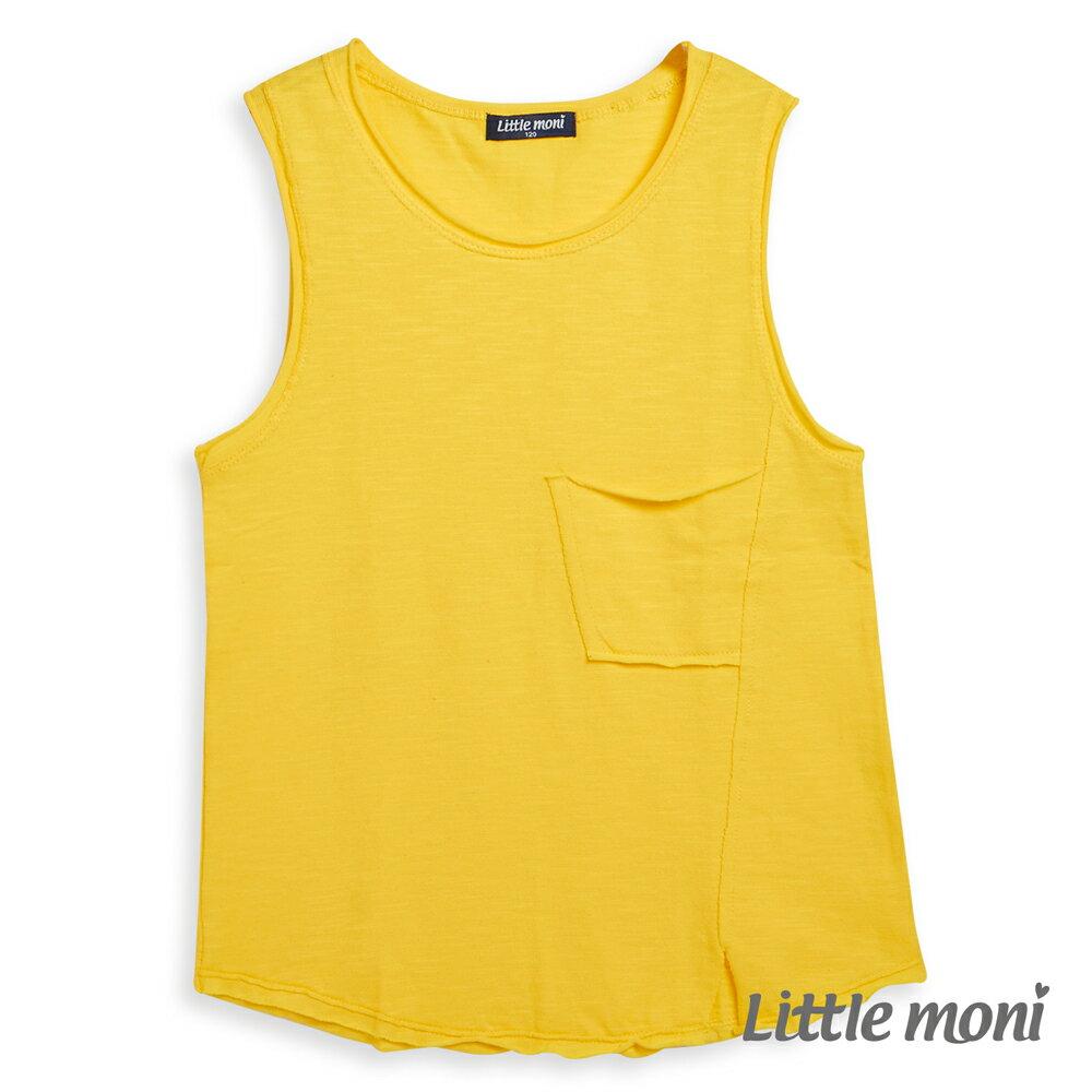 Little moni 經典素面背心-黃色 1