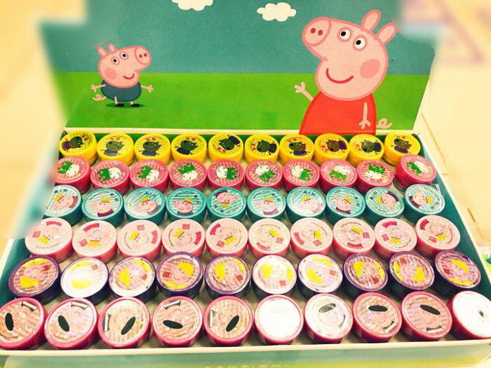佩佩豬獎勵印章-台灣製無毒墨水-6入超值包