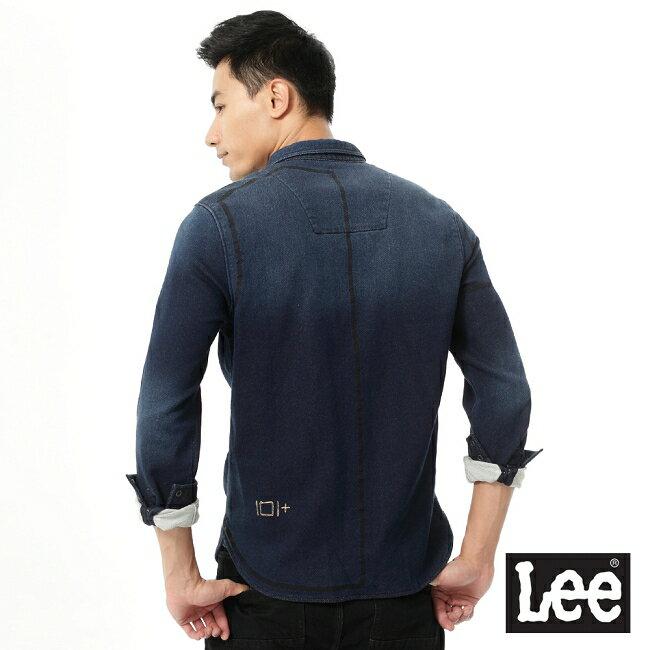 Lee 101+ 牛仔長袖襯衫-男款 2