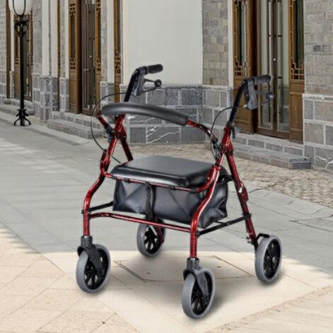 【銀元氣屋】四輪帶座帶輪型助步車V4206