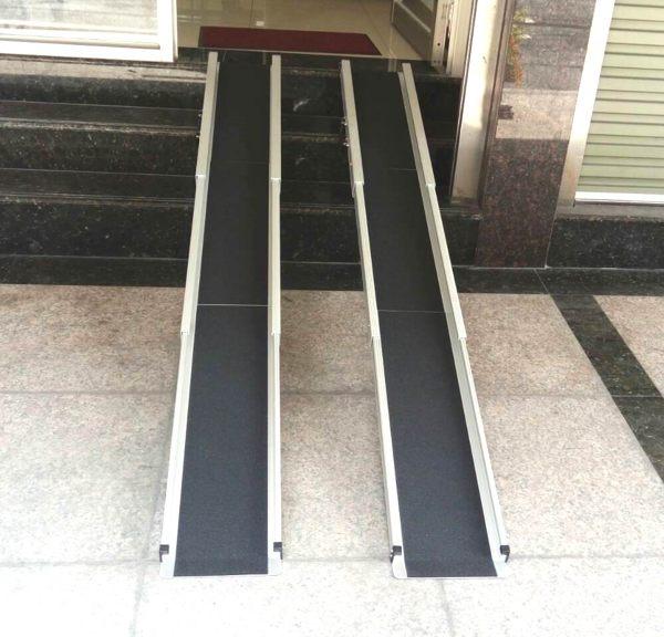 鋁輪椅梯--輪椅-電動輪椅爬梯專用斜坡板210CM
