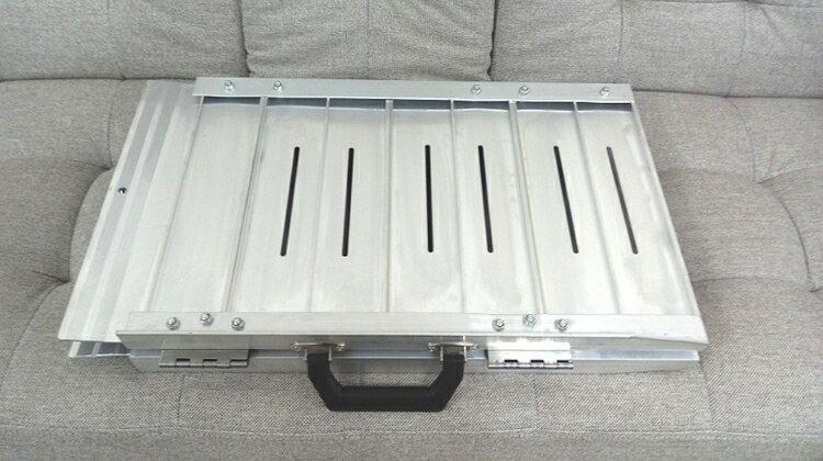 鋁合金輪椅梯-輪椅爬梯專用斜坡板 單摺鋁梯長24吋 1