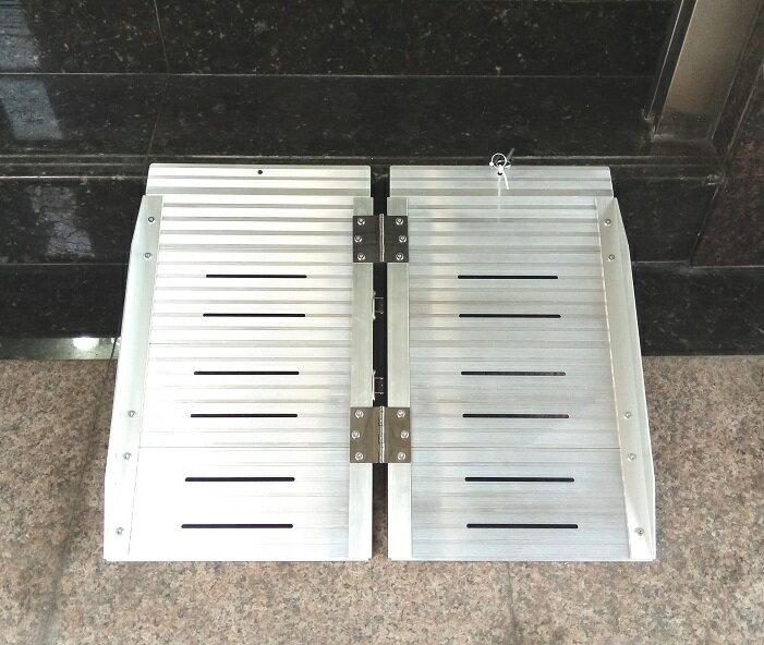 鋁合金輪椅梯-輪椅爬梯專用斜坡板 單摺鋁梯長24吋 2