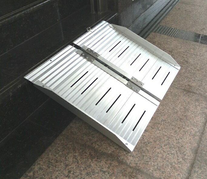 鋁合金輪椅梯-輪椅爬梯專用斜坡板 單摺鋁梯長24吋 3