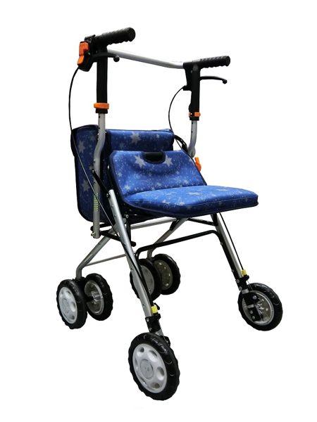 鋁製散步車(購物車 / 健步車)FZK717(藍色) 0