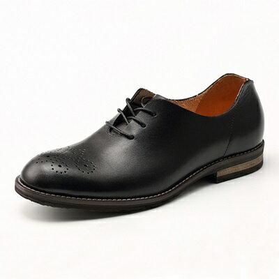 短靴真皮繫帶靴子-英倫巴洛克雕花時尚男靴2色73kk74【獨家進口】【米蘭精品】