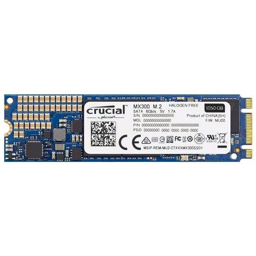 Crucial SSD MX300 M.2 2280 1TB 1.0TB SATA III 6Gb/s 3D NAND 80mm Internal Solid State Drive 530MB/s Maximum Read Transfer Rate 510MB/s Maximum Write Transfer Rate CT1050MX300SSD4