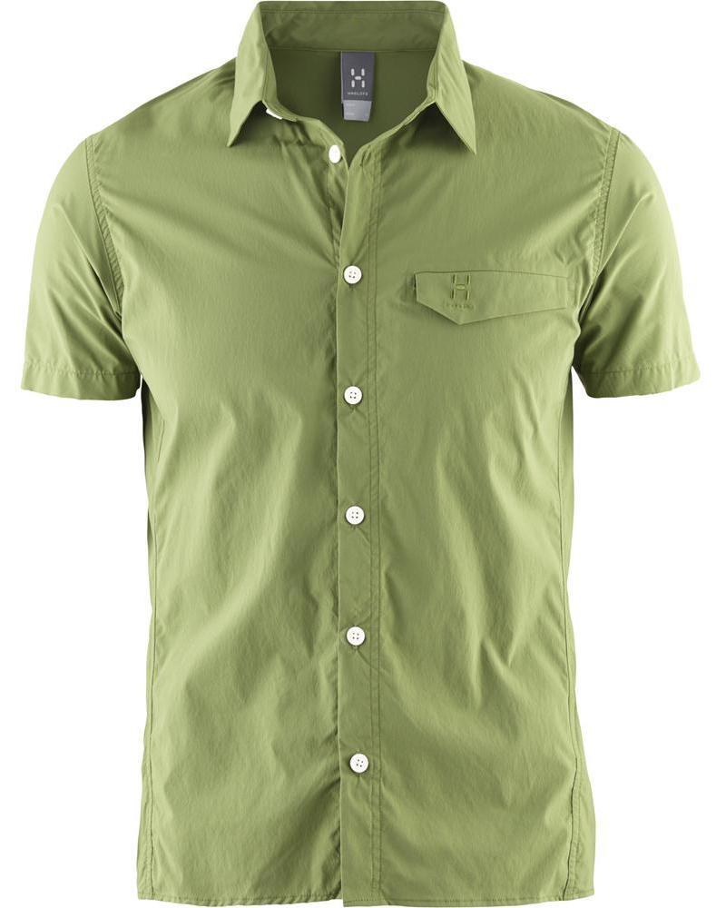 HAGLOFS 登山襯衫 旅遊襯衫 瑞典 GETA 男款短袖 603360 2JU 杜松綠