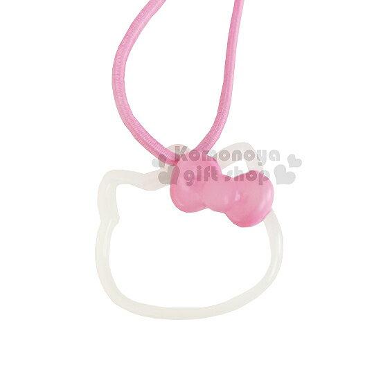 〔小禮堂〕Hello Kitty 鏤空彈力髮束~粉蝴蝶結.白大臉~髮圈