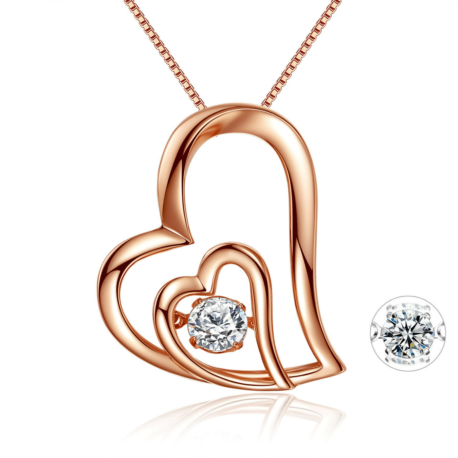 gorgeous pendant design dancing silver diamond chain