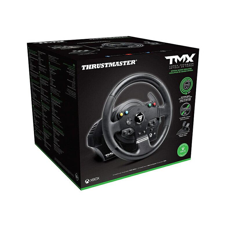 Thrustmaster 賽車方向盤套組 TMX Force Feedback Racing Wheel 適用XBOX X / S Xone Windows [2美國直購]