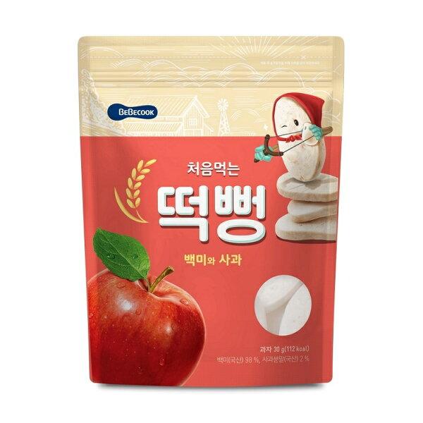 【BEBECOOK】寶膳嬰幼兒蘋果初食綿綿米餅(30g)(5m+)