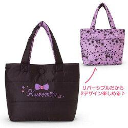 大賀屋 日貨 酷洛米 手提包 肩背包 提袋 購物袋 包包 Kuromi 三麗鷗 Sanrio 正版 J00030651