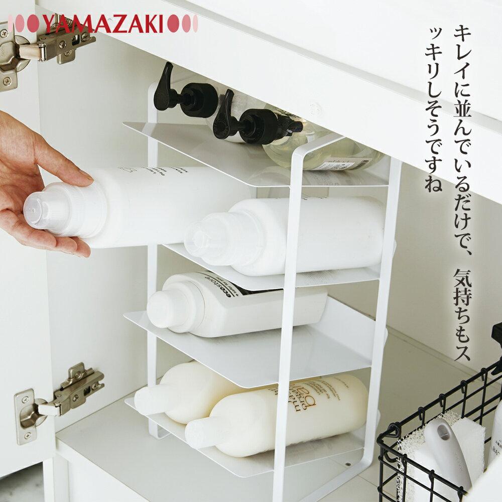 日本【YAMAZAKI】tower水槽下置物架(白) 7