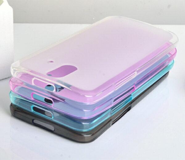 HTC one時尚版 E8 手機保護套 超薄後殼 彩色布丁套 清水套 宏達電HTC E8時尚版 軟背殼 現貨
