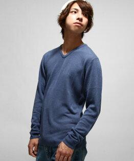 V領毛衣38墨水藍
