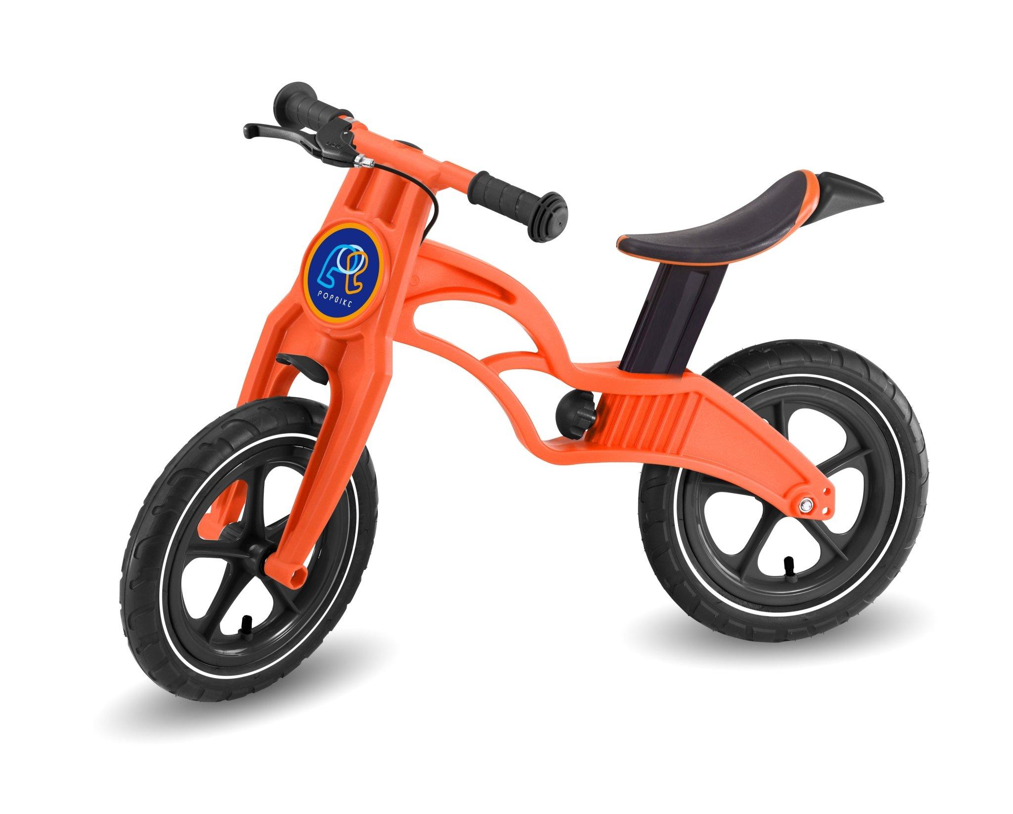Pop Bike 兒童滑步車 / 平衡車 / 學步車 /  - 煞車版 氣胎 橘色 - 限時優惠好康折扣