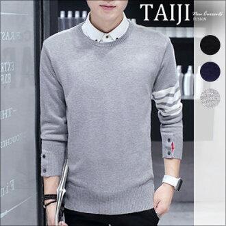 針織毛衣‧韓風條紋袖子針織毛衣‧三色‧【NTJBA033】-TAIJI