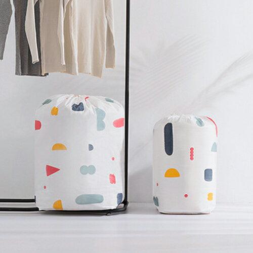PS Mall 圓筒束口收納袋 棉被收納袋 大容量居家雜物收納防塵袋【J521】 4
