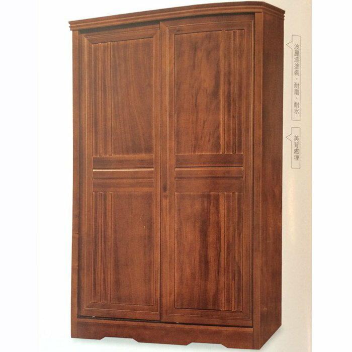 【尚品傢俱】861-01 楓芝林 4*7尺樟木半實木推門衣櫃~另有5*7、7*7衣櫃/衣櫥/收納櫥櫃/衣物整理櫃