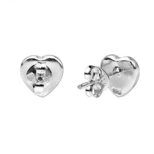 Cute Inlay Abalone Heart .925 Silver Stud Earrings 2