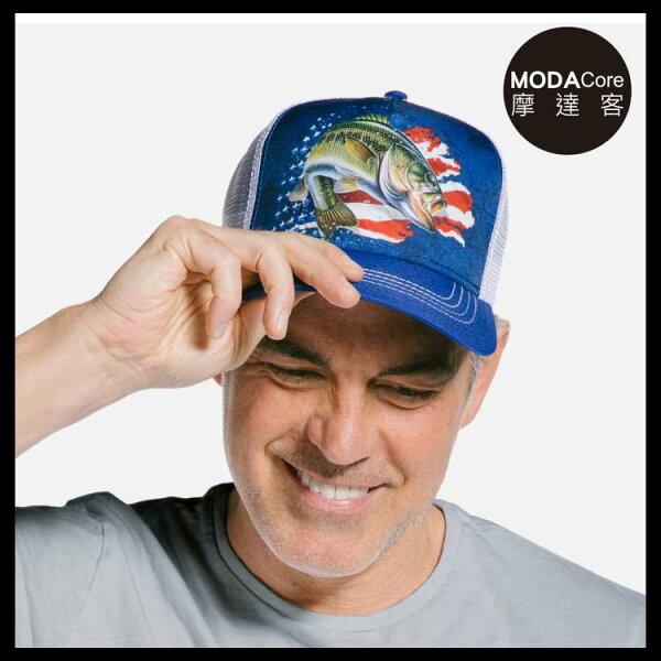 【摩達客】(預購)美國進口TheMountain愛國鱸魚藝術棒球帽網帽5-Panel新五分割帽