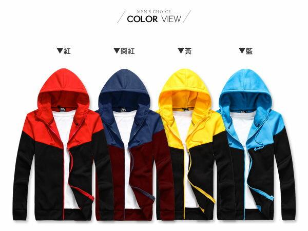 ☆BOY-2☆【OE0501-1】美式休閒配色刷毛連帽外套 1