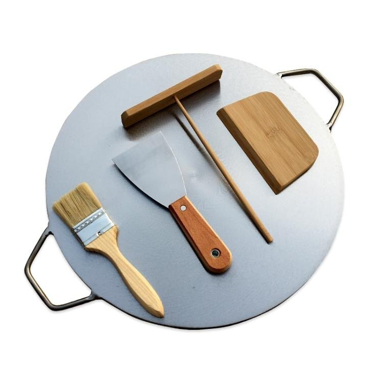雜糧煎餅鍋家用鏊子雞蛋烙餅鍋攤煎餅果子鍋平底商用擺攤工具鐵板