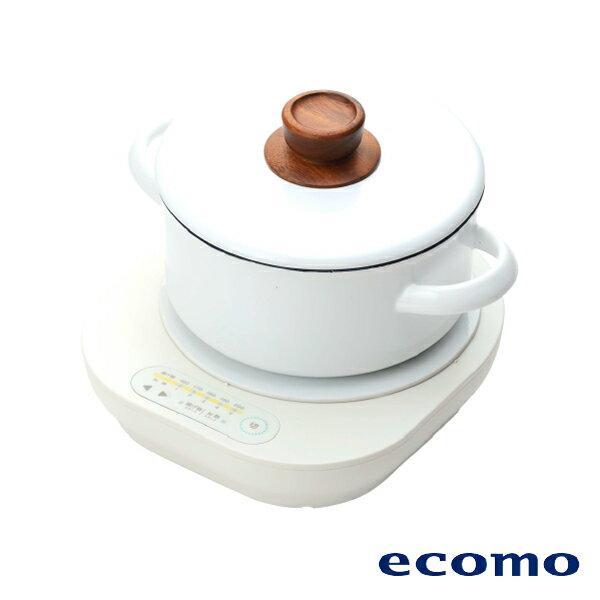 【領券現折+點數回饋$583】日本 ecomo ( AIM-CT101 ) cotto cotto IH電磁爐 x 富士琺瑯鍋組 0