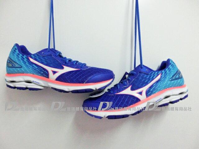 【登瑞體育】MIZUNO 女慢跑鞋 WAVE RIDER 19 - J1GD160642